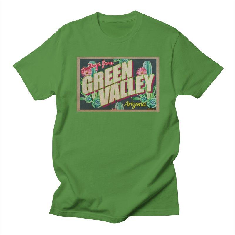 Green Valley, Arizona Men's Regular T-Shirt by Nuttshaw Studios