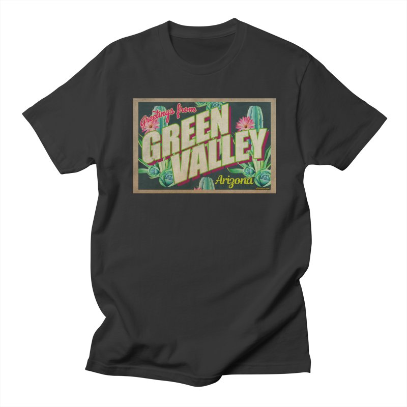 Green Valley, Arizona Men's T-Shirt by Nuttshaw Studios