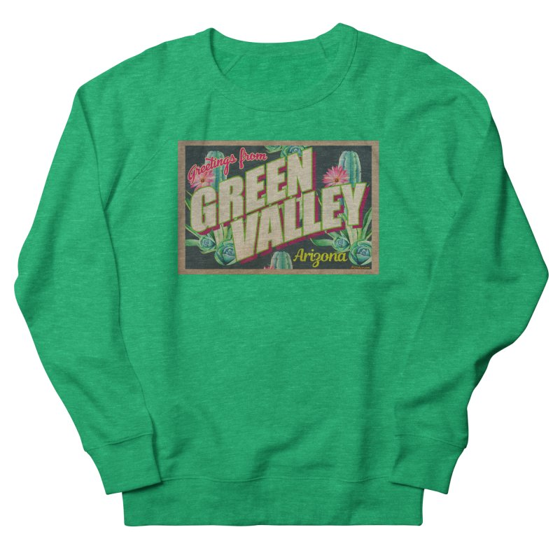 Green Valley, Arizona Women's French Terry Sweatshirt by Nuttshaw Studios