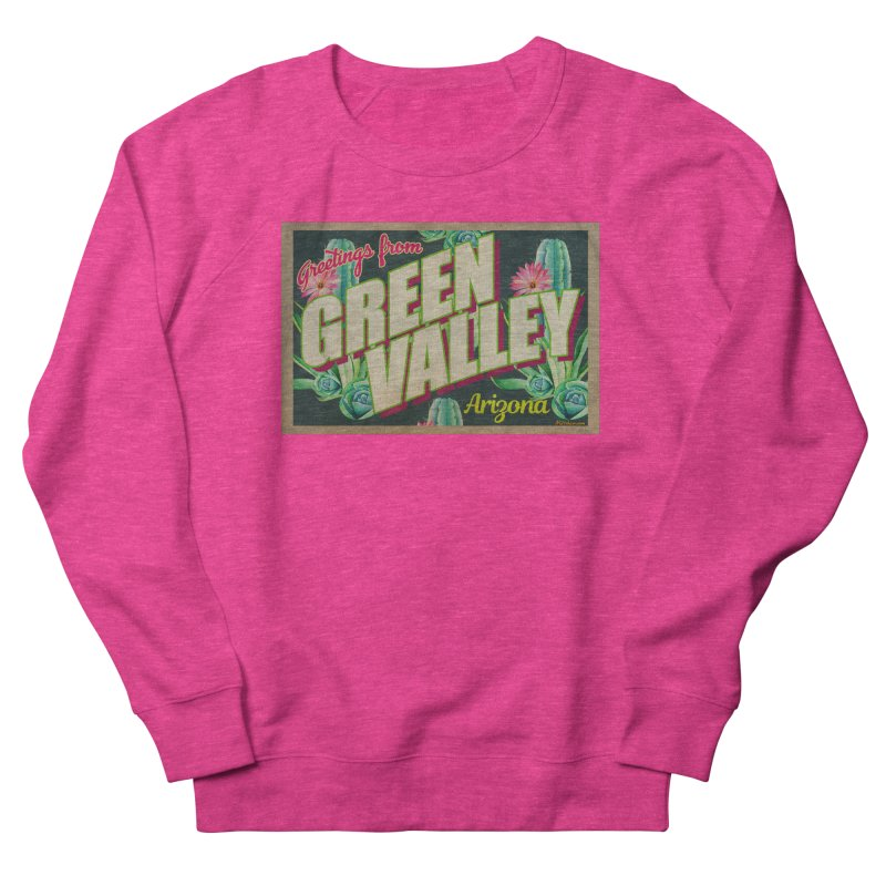 Green Valley, Arizona Women's French Terry Sweatshirt by Nuttshaw Studios