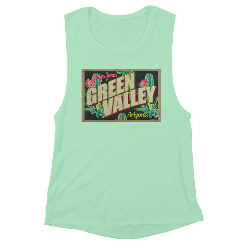 Green Valley, Arizona Women's Muscle Tank by Nuttshaw Studios