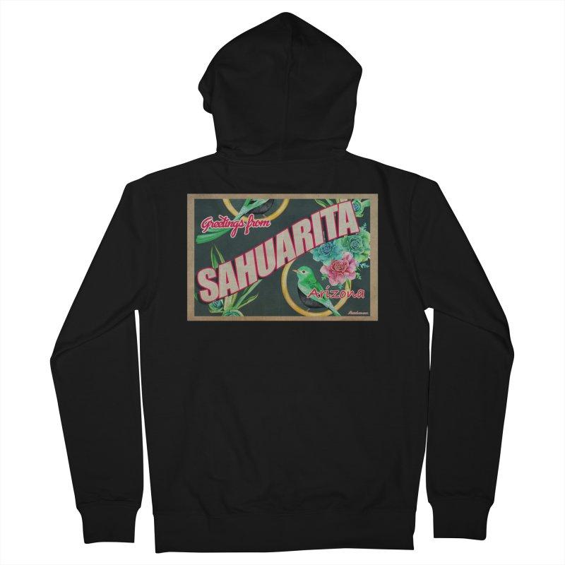 Sahuarita, AZ Men's Zip-Up Hoody by Nuttshaw Studios