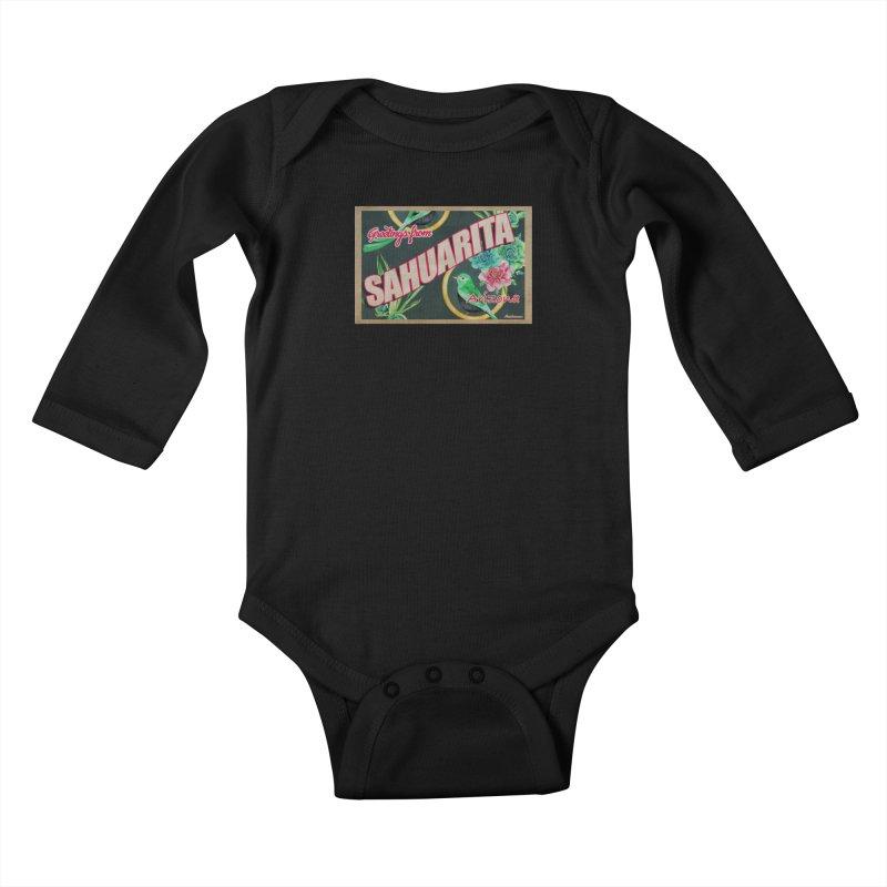 Sahuarita, AZ Kids Baby Longsleeve Bodysuit by Nuttshaw Studios