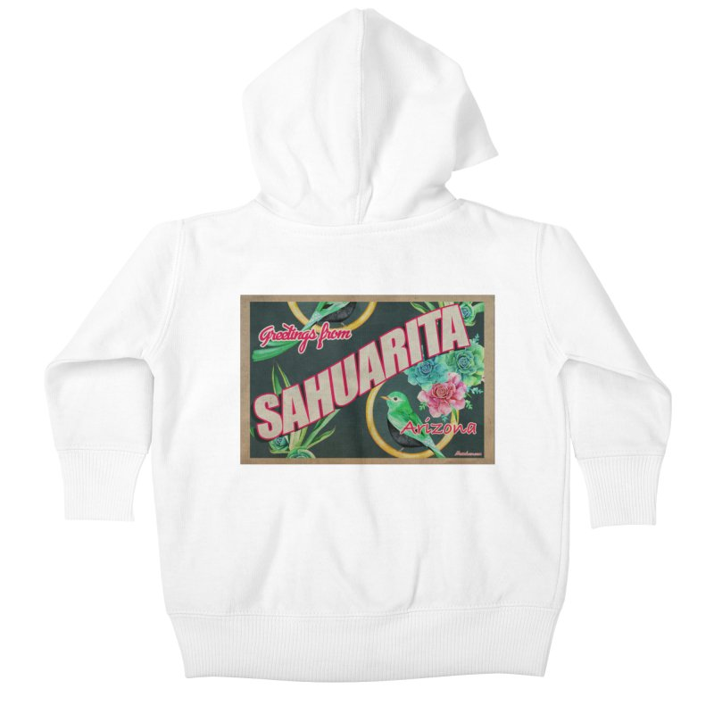 Sahuarita, AZ Kids Baby Zip-Up Hoody by Nuttshaw Studios
