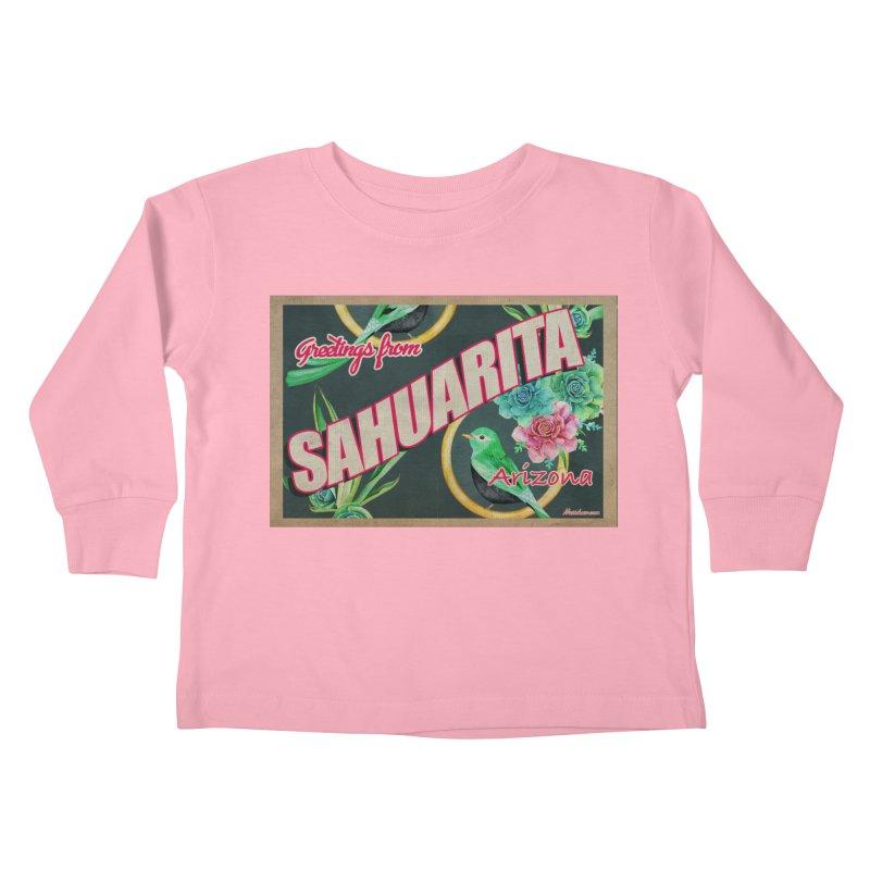 Sahuarita, AZ Kids Toddler Longsleeve T-Shirt by Nuttshaw Studios
