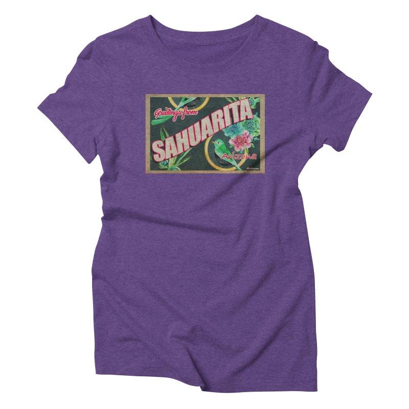 Sahuarita, AZ Women's Triblend T-Shirt by Nuttshaw Studios