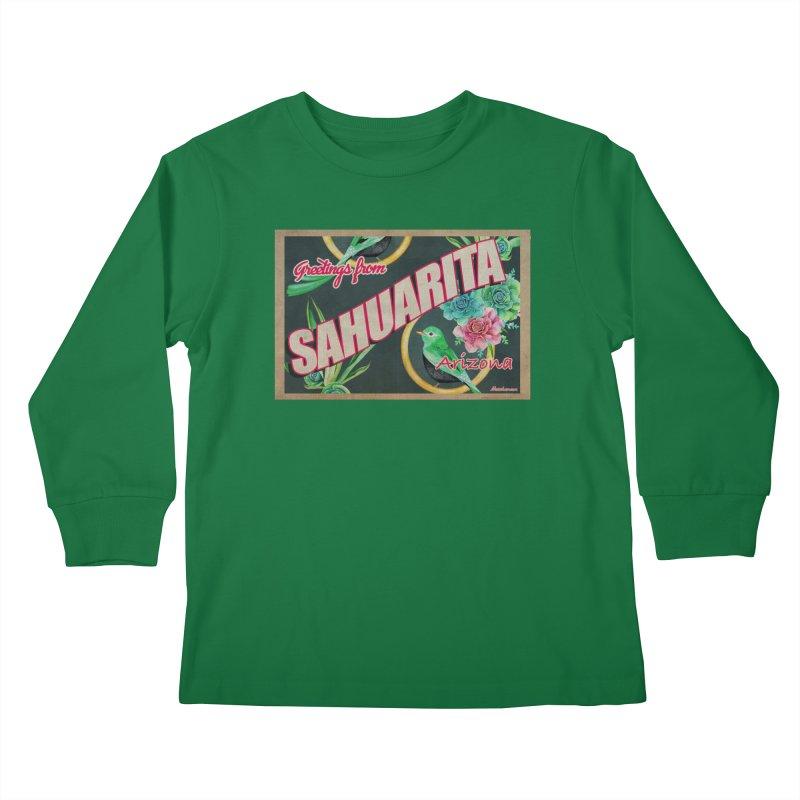 Sahuarita, AZ Kids Longsleeve T-Shirt by Nuttshaw Studios