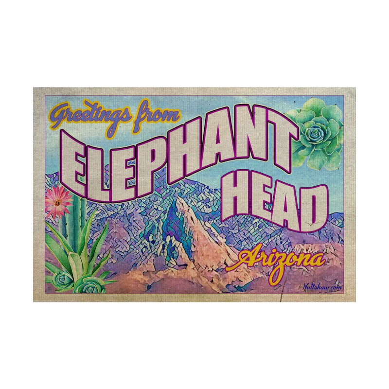 Elephant Head, Arizona Men's T-Shirt by Nuttshaw Studios