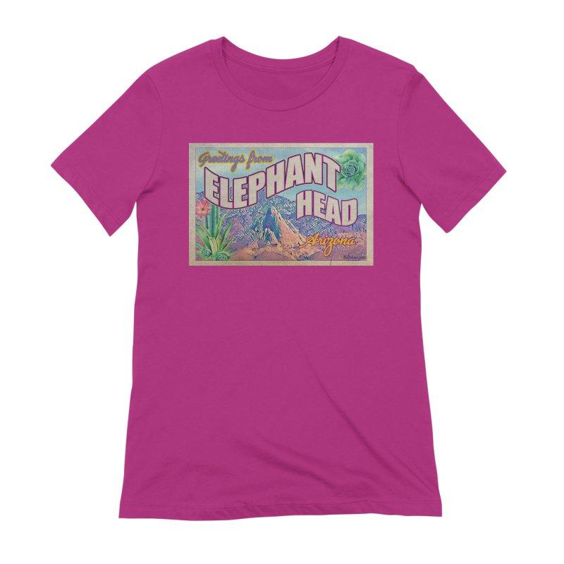 Elephant Head, Arizona Women's Extra Soft T-Shirt by Nuttshaw Studios