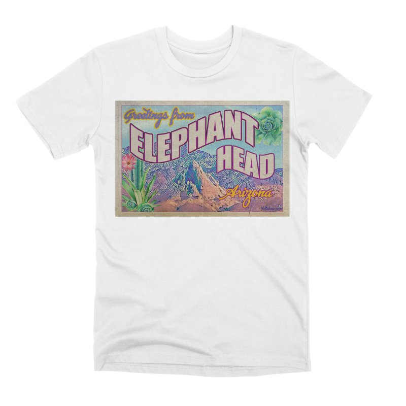Elephant Head, Arizona Men's Premium T-Shirt by Nuttshaw Studios
