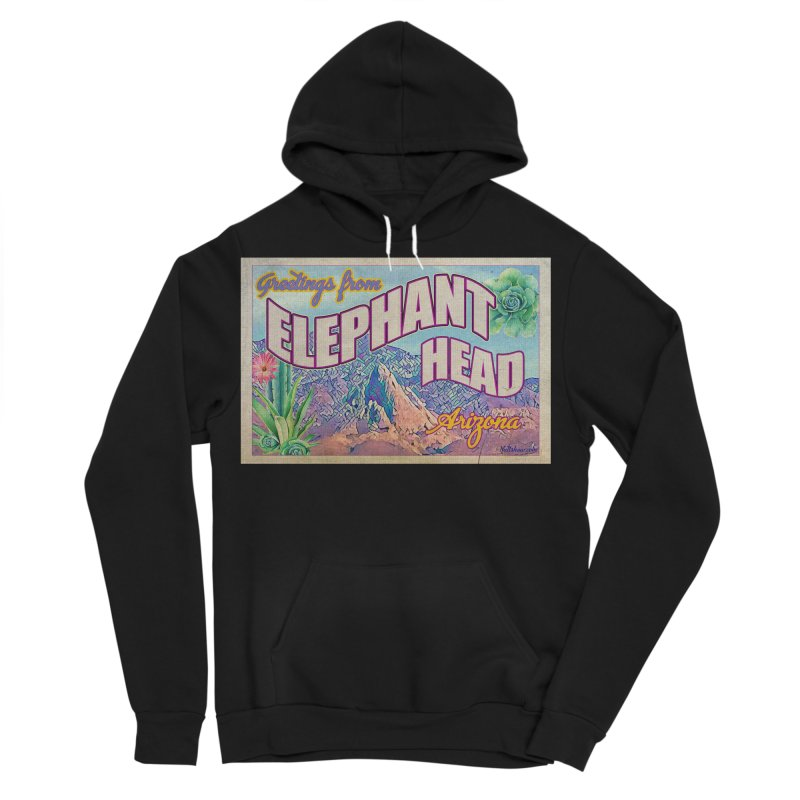 Elephant Head, Arizona Men's Sponge Fleece Pullover Hoody by Nuttshaw Studios
