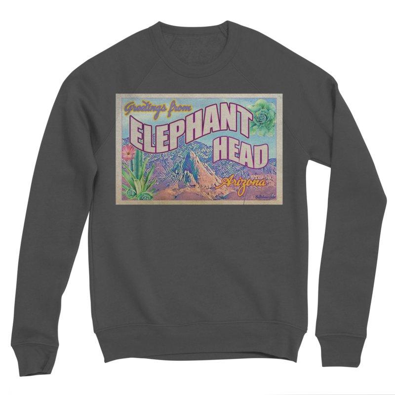 Elephant Head, Arizona Men's Sponge Fleece Sweatshirt by Nuttshaw Studios