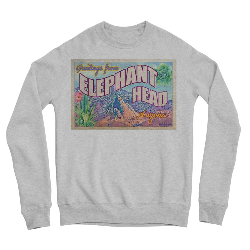 Elephant Head, Arizona Women's Sponge Fleece Sweatshirt by Nuttshaw Studios