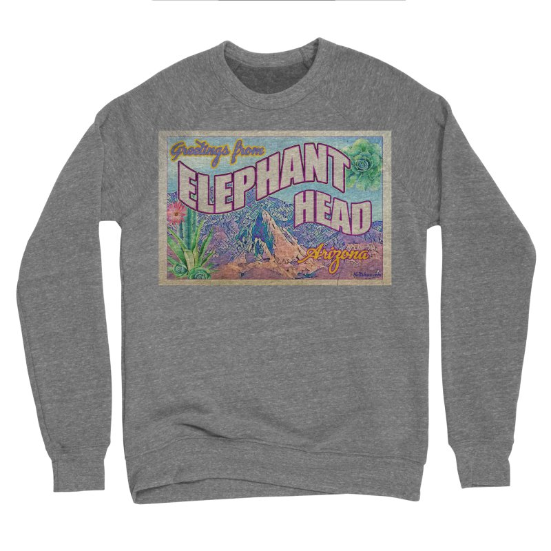 Elephant Head, Arizona Women's Sponge Fleece Sweatshirt by Nuttshaw Studios