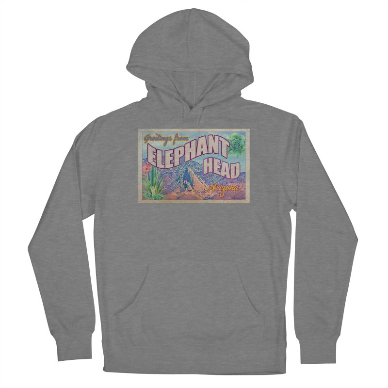 Elephant Head, Arizona Men's Pullover Hoody by Nuttshaw Studios