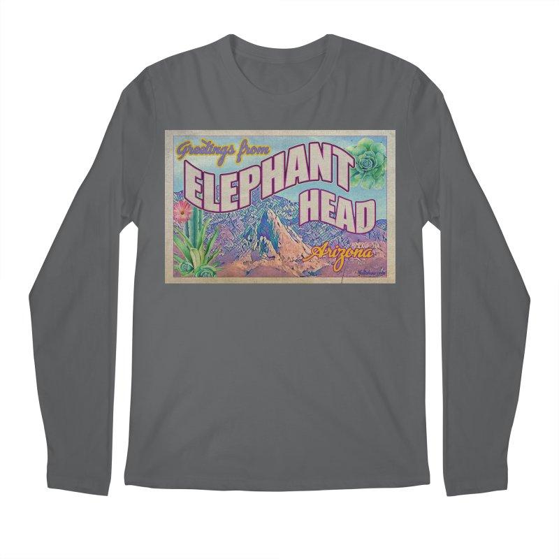 Elephant Head, Arizona Men's Regular Longsleeve T-Shirt by Nuttshaw Studios