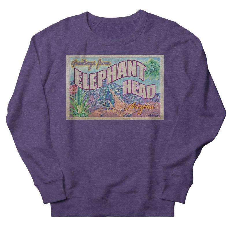 Elephant Head, Arizona Men's French Terry Sweatshirt by Nuttshaw Studios