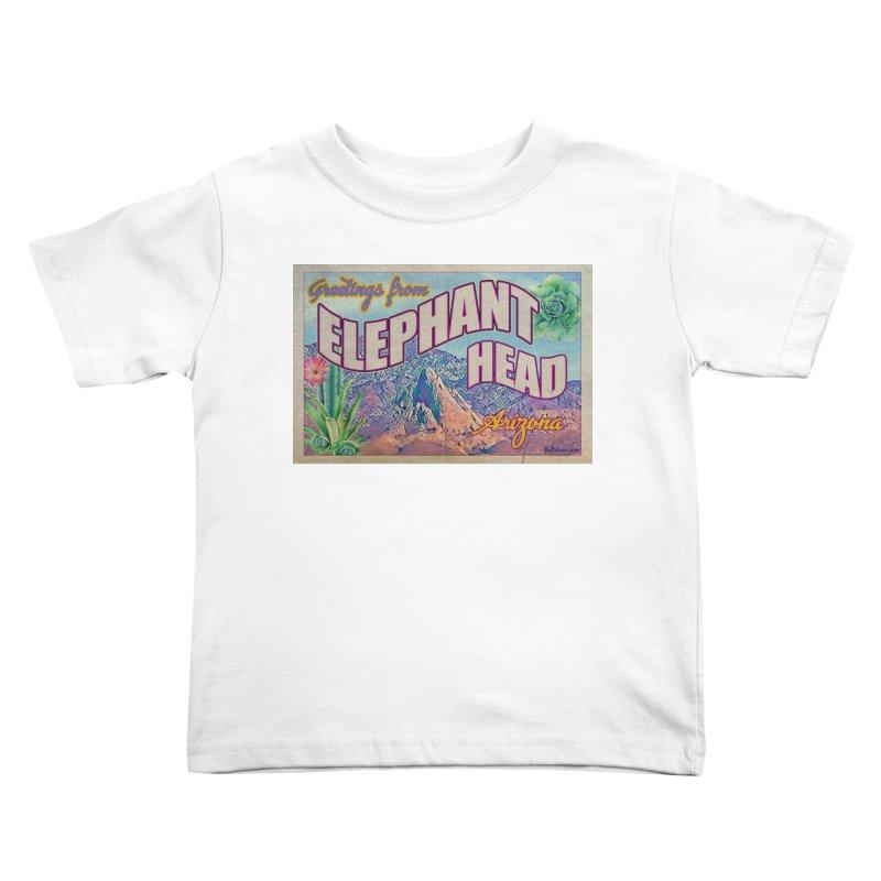 Elephant Head, Arizona Kids Toddler T-Shirt by Nuttshaw Studios