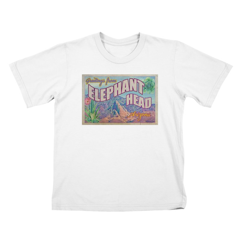 Elephant Head, Arizona Kids T-Shirt by Nuttshaw Studios