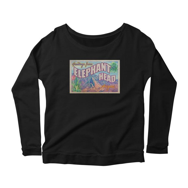 Elephant Head, Arizona Women's Scoop Neck Longsleeve T-Shirt by Nuttshaw Studios
