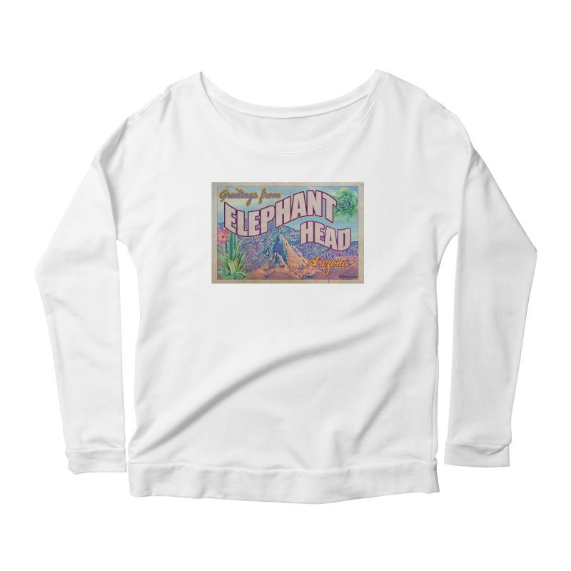 Elephant Head, Arizona Women's Scoop Neck Longsleeve T-Shirt by Nuttshaw Studios