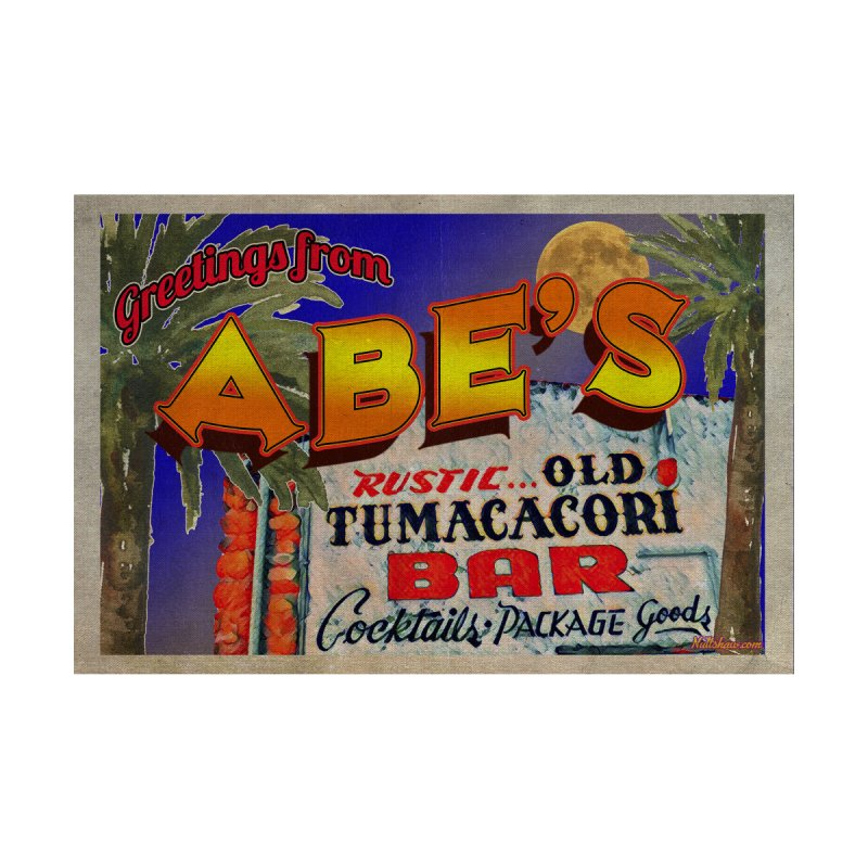 Abe's Old Tumacacori Bar Men's T-Shirt by Nuttshaw Studios