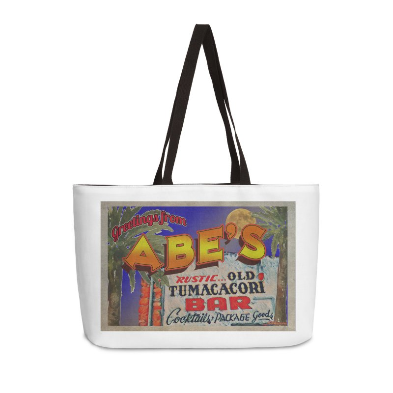 Abe's Old Tumacacori Bar Accessories Weekender Bag Bag by Nuttshaw Studios