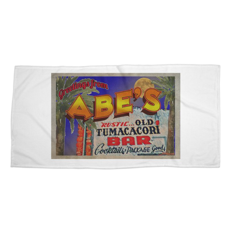 Abe's Old Tumacacori Bar Accessories Beach Towel by Nuttshaw Studios