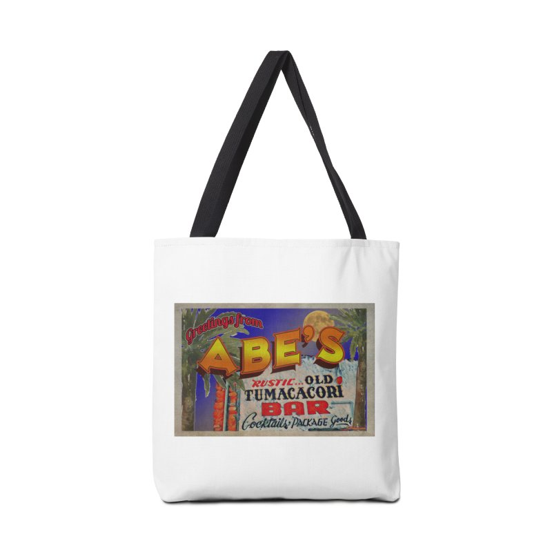 Abe's Old Tumacacori Bar Accessories Tote Bag Bag by Nuttshaw Studios