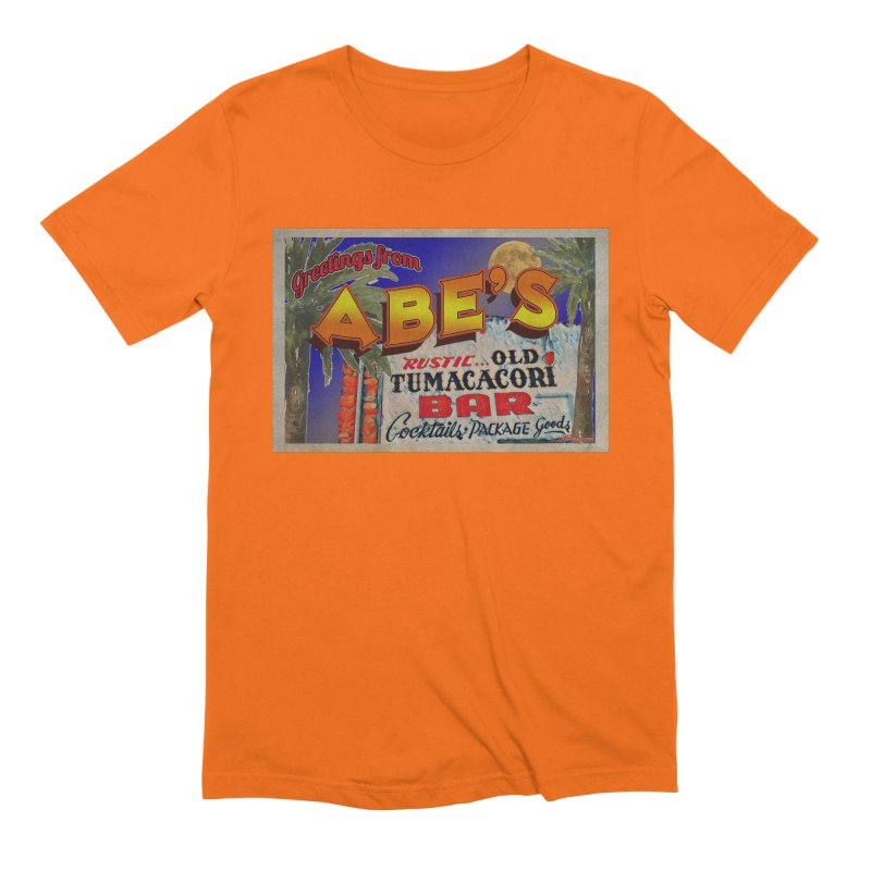Abe's Old Tumacacori Bar Men's Extra Soft T-Shirt by Nuttshaw Studios