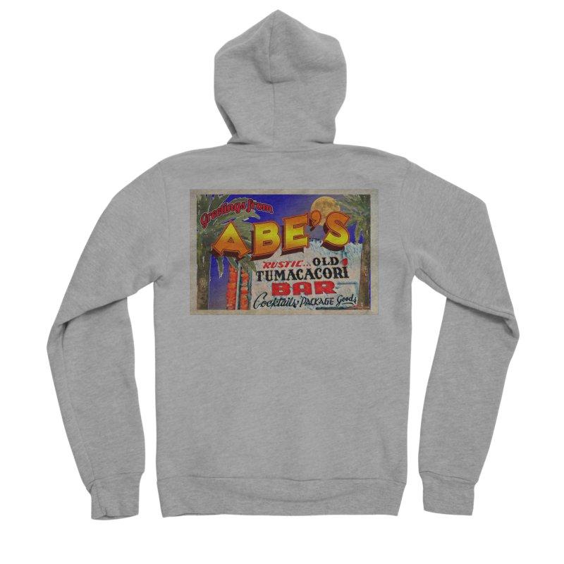 Abe's Old Tumacacori Bar Men's Sponge Fleece Zip-Up Hoody by Nuttshaw Studios