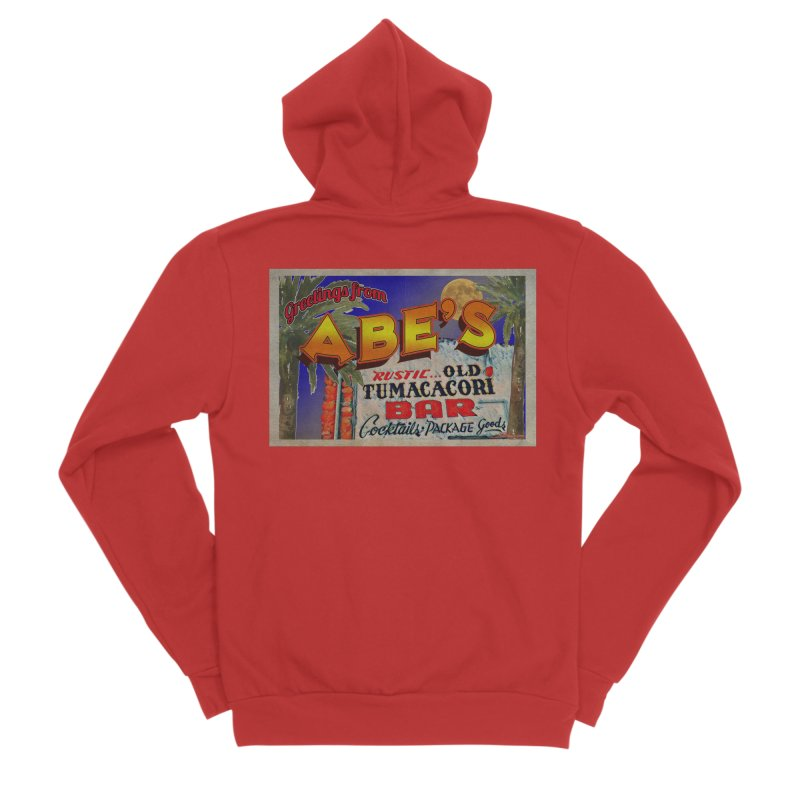 Abe's Old Tumacacori Bar Men's Zip-Up Hoody by Nuttshaw Studios