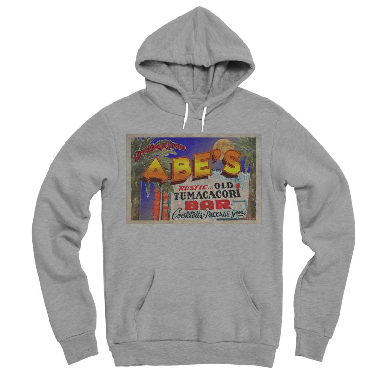 Abe's Old Tumacacori Bar Men's Sponge Fleece Pullover Hoody by Nuttshaw Studios