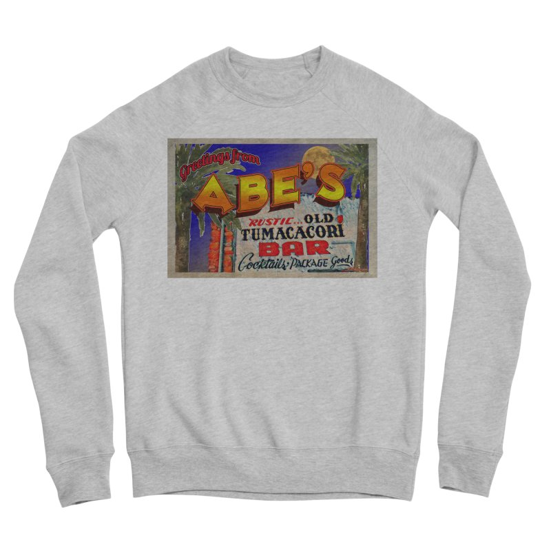 Abe's Old Tumacacori Bar Men's Sponge Fleece Sweatshirt by Nuttshaw Studios