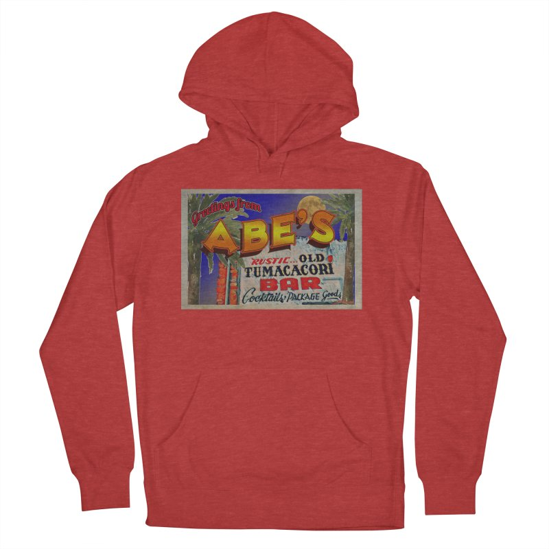 Abe's Old Tumacacori Bar Men's French Terry Pullover Hoody by Nuttshaw Studios