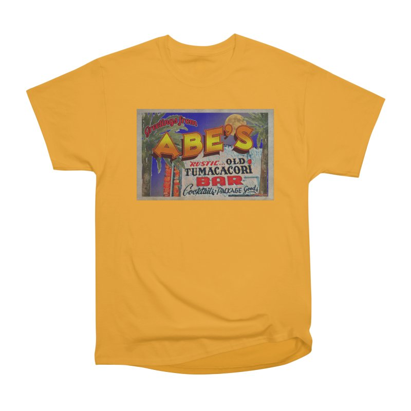 Abe's Old Tumacacori Bar Men's Heavyweight T-Shirt by Nuttshaw Studios