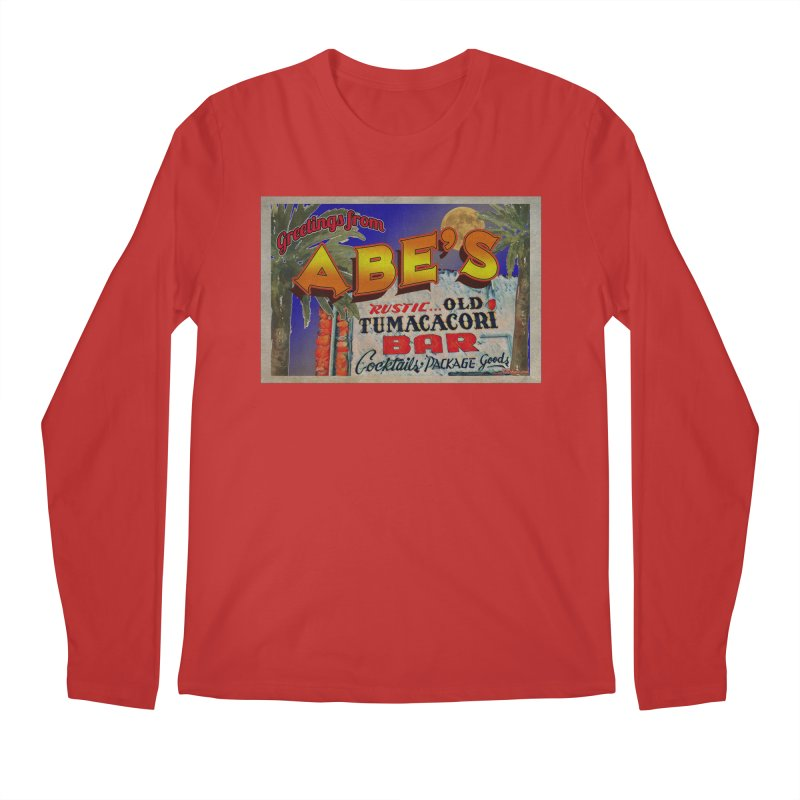 Abe's Old Tumacacori Bar Men's Regular Longsleeve T-Shirt by Nuttshaw Studios