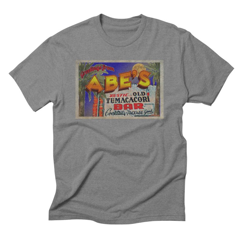 Abe's Old Tumacacori Bar Men's Triblend T-Shirt by Nuttshaw Studios