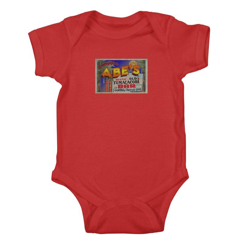 Abe's Old Tumacacori Bar Kids Baby Bodysuit by Nuttshaw Studios
