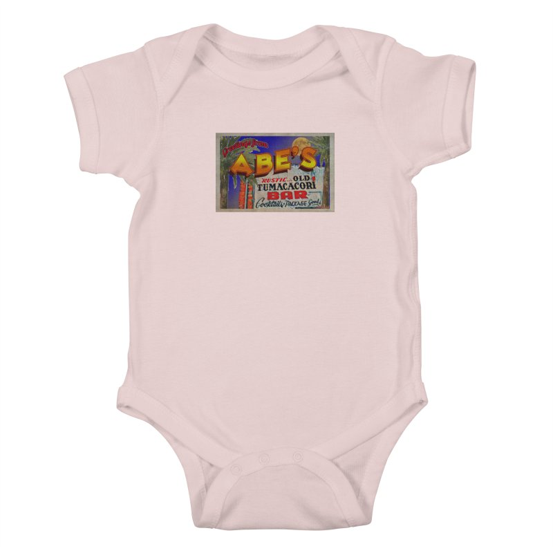 Abe's Old Tumacacori Bar Kids Baby Bodysuit by Nuttshaw Studios