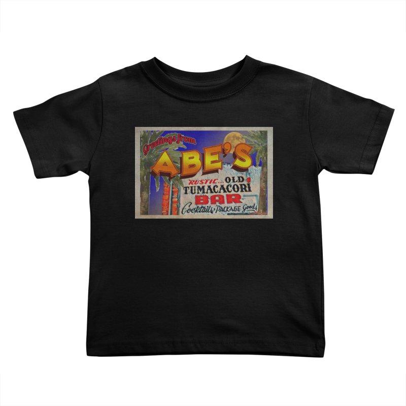 Abe's Old Tumacacori Bar Kids Toddler T-Shirt by Nuttshaw Studios