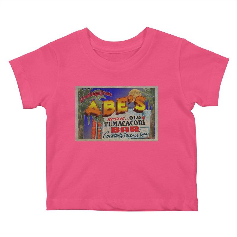Abe's Old Tumacacori Bar Kids Baby T-Shirt by Nuttshaw Studios
