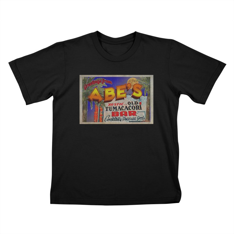 Abe's Old Tumacacori Bar Kids T-Shirt by Nuttshaw Studios