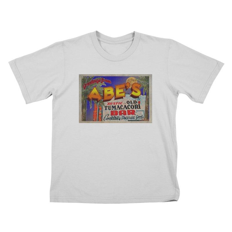 Abe's Old Tumacacori Bar Kids T-Shirt by Nuttshaw Studios