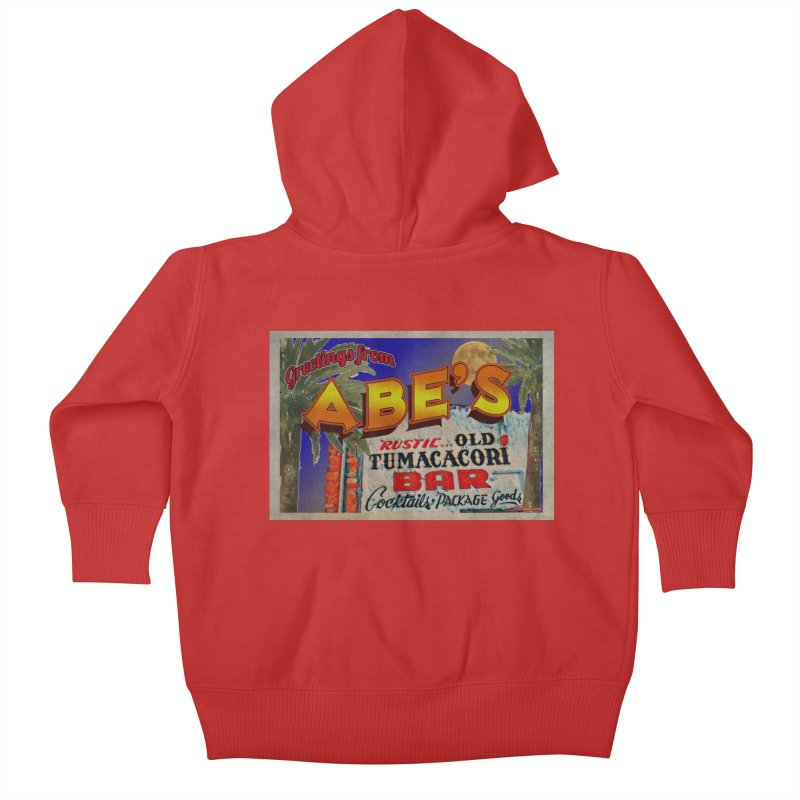 Abe's Old Tumacacori Bar Kids Baby Zip-Up Hoody by Nuttshaw Studios