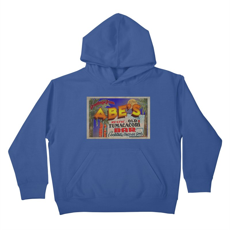 Abe's Old Tumacacori Bar Kids Pullover Hoody by Nuttshaw Studios