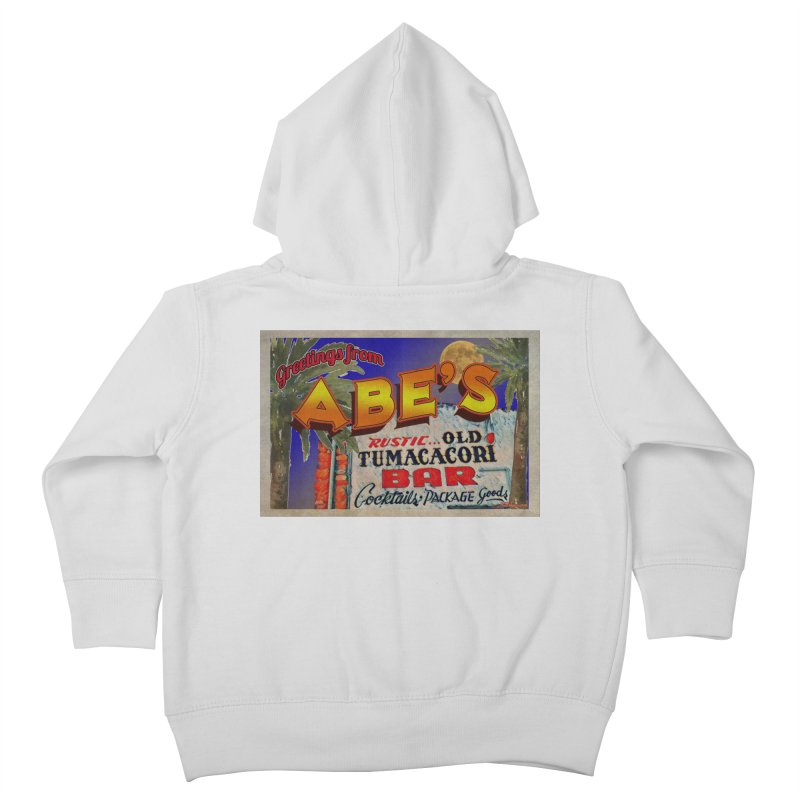 Abe's Old Tumacacori Bar Kids Toddler Zip-Up Hoody by Nuttshaw Studios