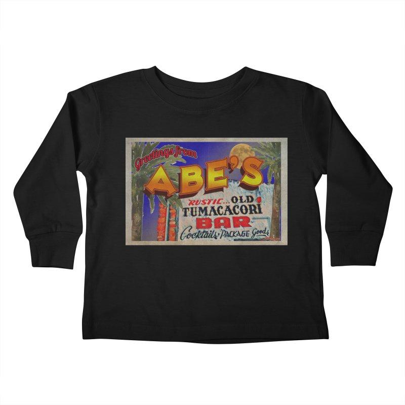 Abe's Old Tumacacori Bar Kids Toddler Longsleeve T-Shirt by Nuttshaw Studios