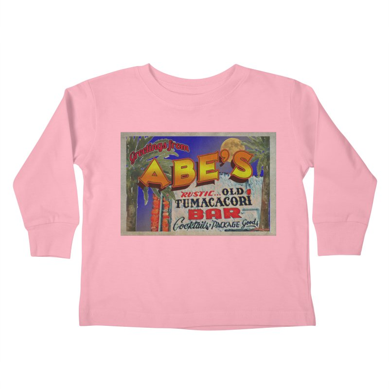 Abe's Old Tumacacori Bar Kids Toddler Longsleeve T-Shirt by Nuttshaw Studios