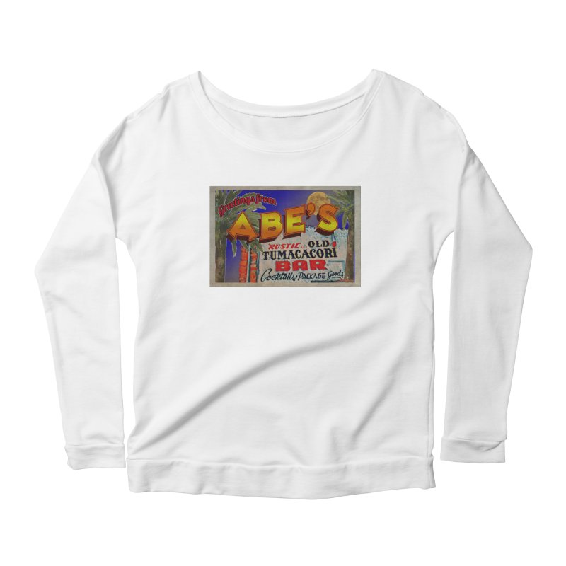 Abe's Old Tumacacori Bar Women's Scoop Neck Longsleeve T-Shirt by Nuttshaw Studios